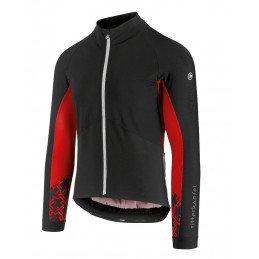Veste Assos Mille GT Spring Fall Softshell noir rouge
