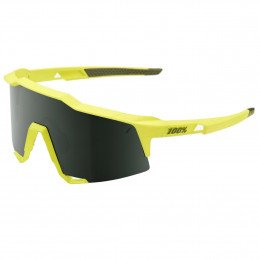 LUNETTES 100% Speedcraft Soft Tact Banana Grey Green Lens