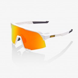 Lunettes 100% S3 White Hiper Red Mirror Lens