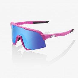 Lunettes 100% S3 Pink Hiper Blue Lens