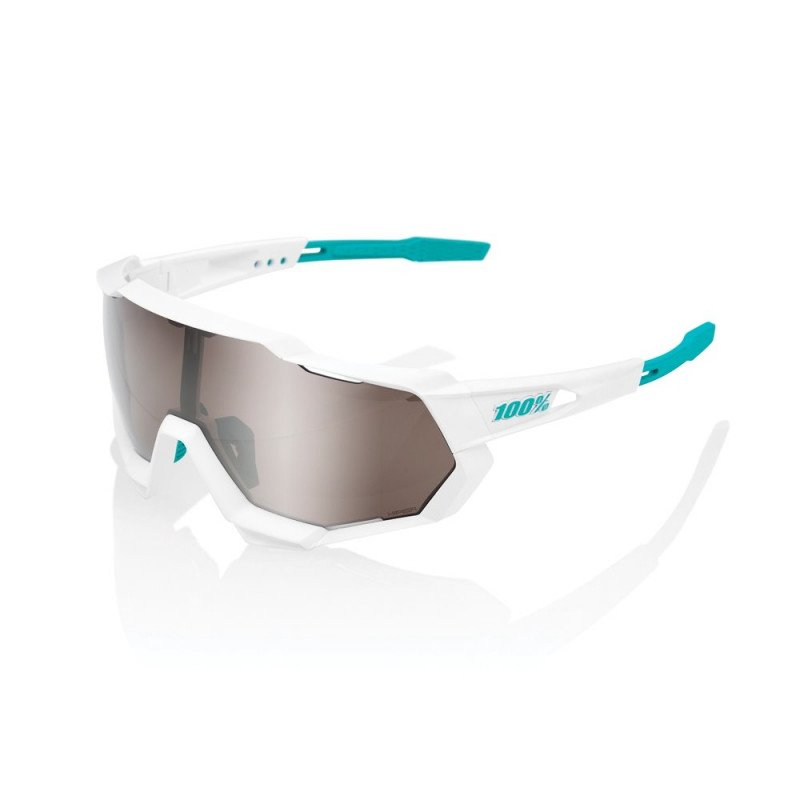 Lunettes 100% Speedtrap Soft Tact Flume Hiper red Mirror