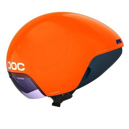 Casque vélo contre le montre Poc Cerebel Orange