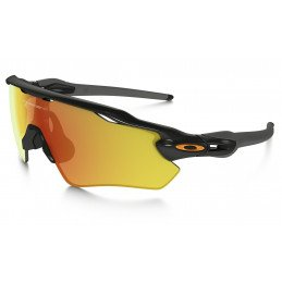 Lunettes Oakley Radar EV Polished Black Fire Iridium TEAM COLORS OO9208-19