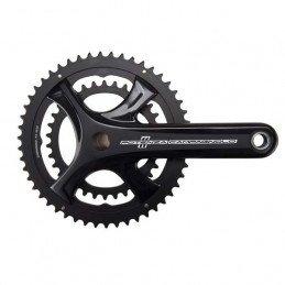 Pédalier vélo route Campagnolo Potenza 11v Power Torque Plus FC-17 double plateau noir