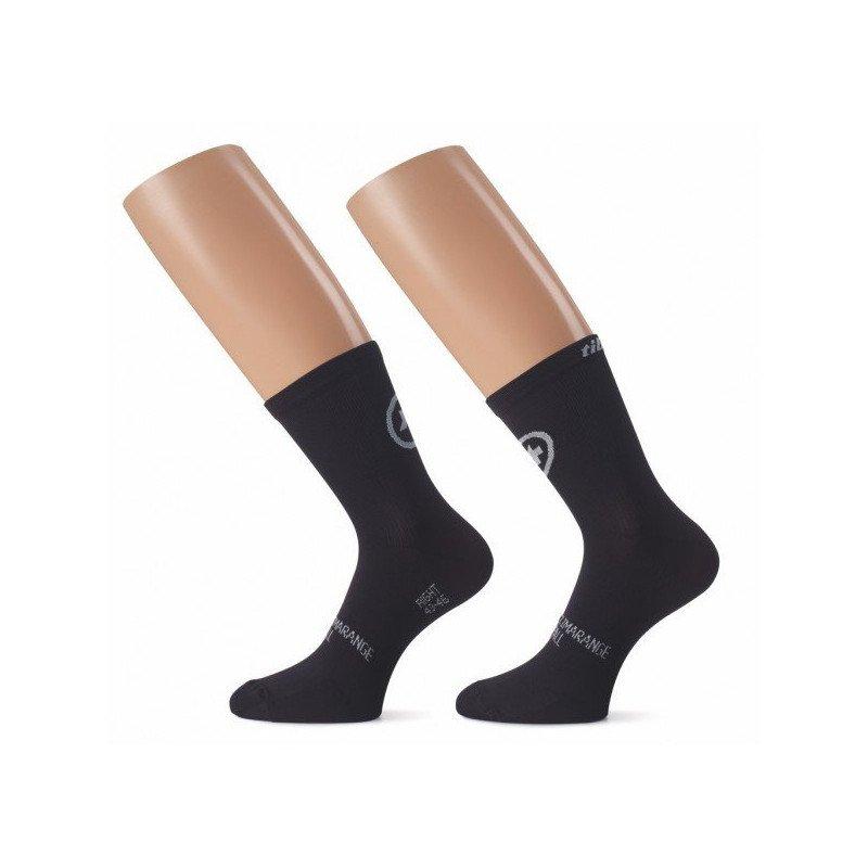 Socquettes ASSOS Tiburu Socks evo8 Noires