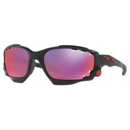 Lunettes Oakley Racing Jacket Polished White-Red/Black Iridium - OO9171-16