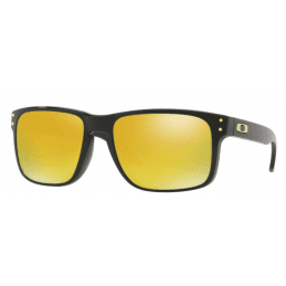 Oakley Holbrook Polished Black 24k iridium 9102E3