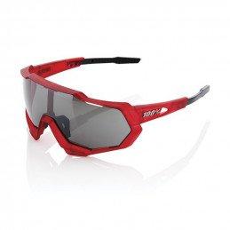 100% Speedtrap - Matte Red/Matte Black (rouge/noir) Ecran miroir noir