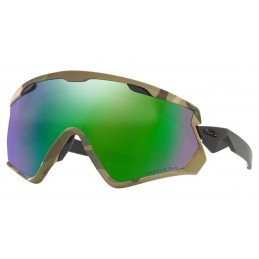 Lunettes Oakley Wind Jacket 2.0 ARMY CAMO COLLECTION Prizm Snow Jade Iridium OO7072-09