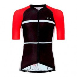 Maillot Oakley Colorblock Road noir rouge