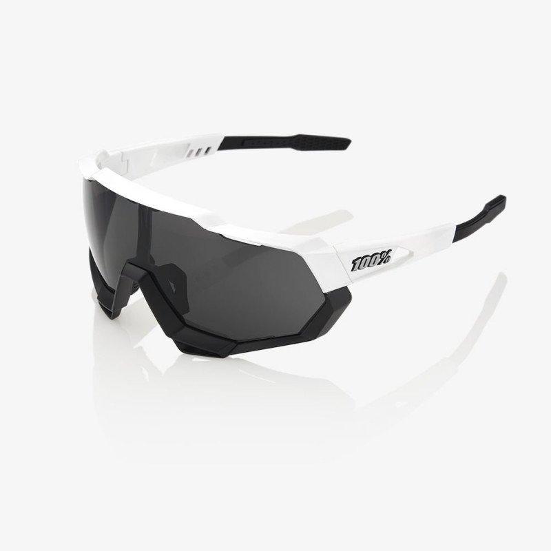 Lunettes 100% Speedtrap - Blanc mate - Ecran fumé
