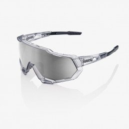 Lunettes 100% Speedtrap - Gris crystal écran miroir argent
