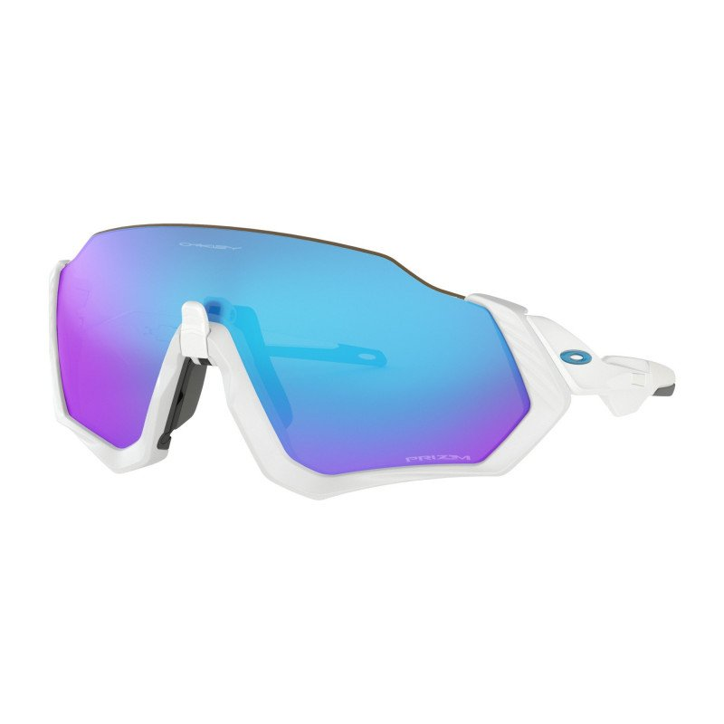 Lunettes Oakley FLIGHT JACKET Polished White Prizm Sapphire OO9401-0237 2148374caef6