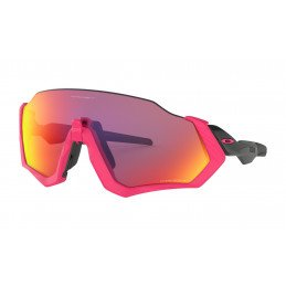 Lunettes Oakley FLIGHT JACKET Prizm Neon Pink Prizm Road OO9401-0637