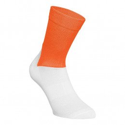 Chaussettes POC Essential Road orange blanc
