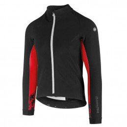 Veste Assos Mille GT Winter Softshell noir rouge