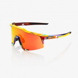 LUNETTES 100% SPEEDCRAFT / PETER SAGAN CHROMIUM RED / HIPER RED MULTILAYER MIRROR / ROUGE MIRROIR