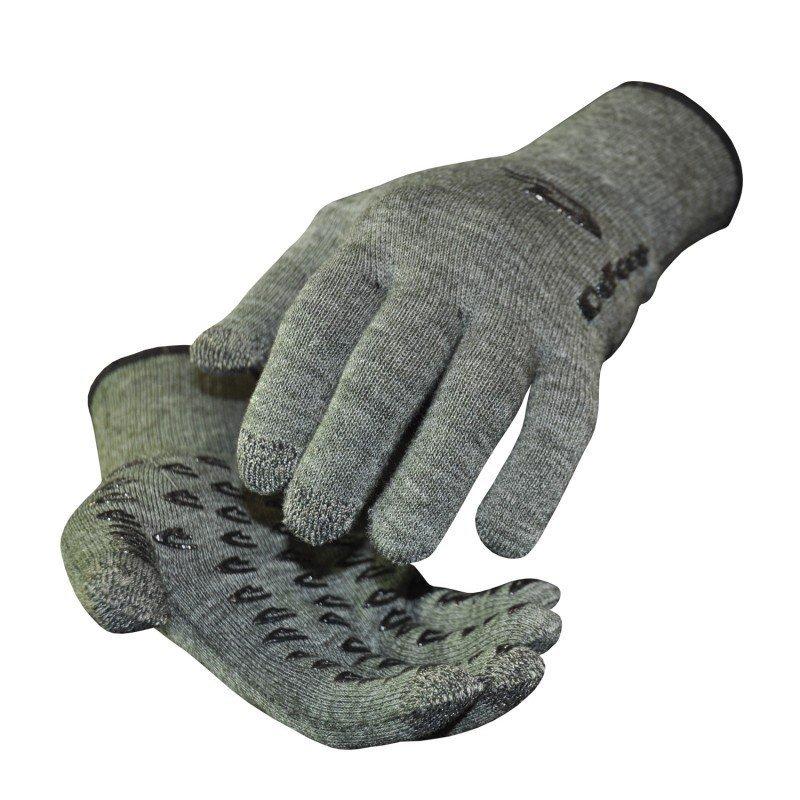 Gants DeFeet DuraGlove Etouch laine gris (loden green)