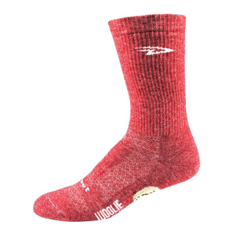 "Chaussettes Defeet Woolie Boolie Comp 6"" Rouge"