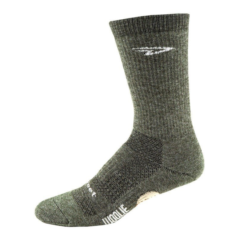 """Chaussettes Defeet Woolie Boolie Comp 6"""" Rouge"""